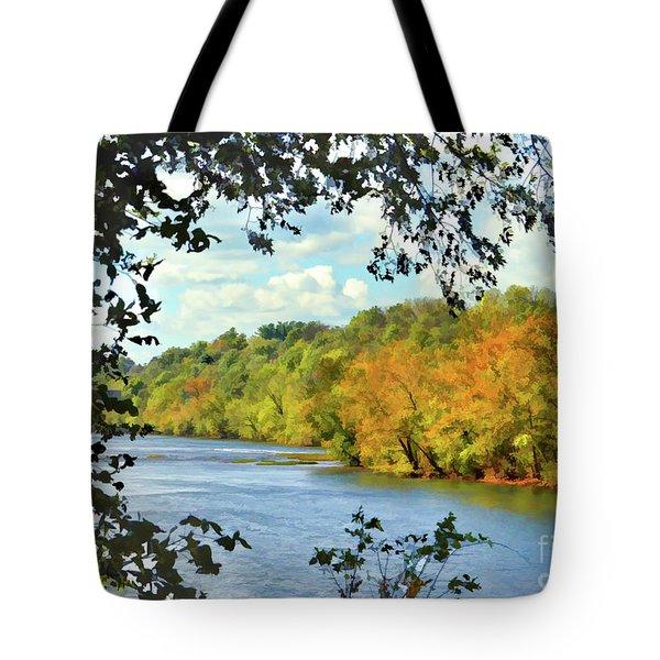 Autumn Along The New River - Bisset Park - Radford Virginia Tote Bag