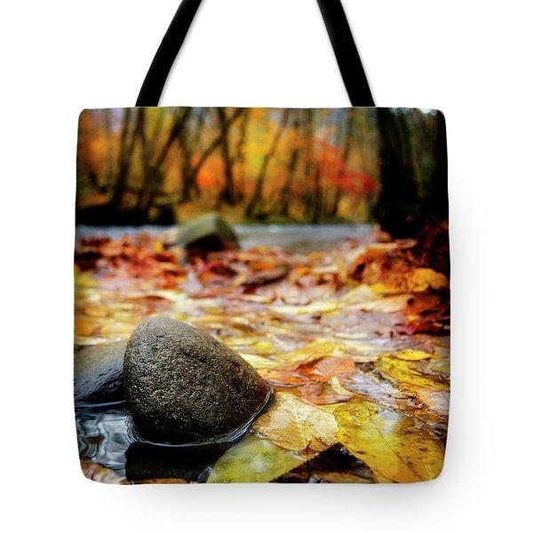 Autumn Along The Oconaluftee River Tote Bag