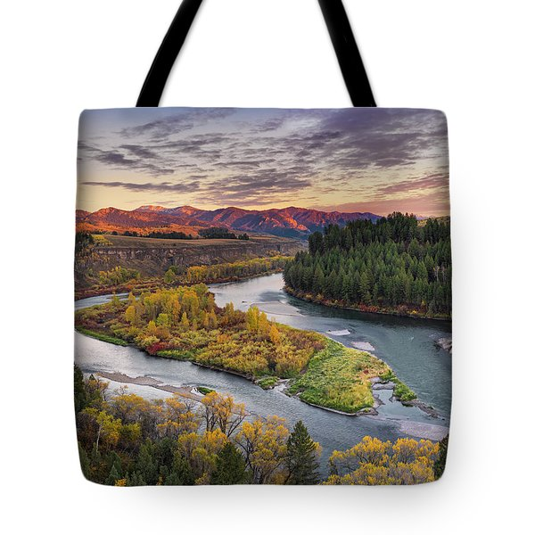 Autumn Along The Snake River Tote Bag