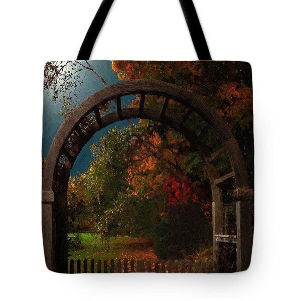 Autumn Archway Tote Bag