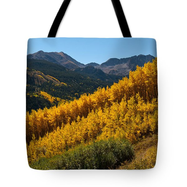 Autumn Aspen Near Castle Creek Tote Bag