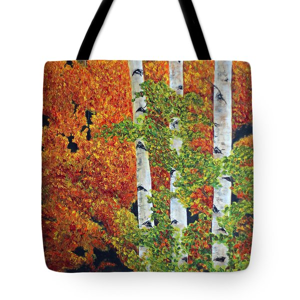 Autumn Aspens Tote Bag by Jennifer Godshalk