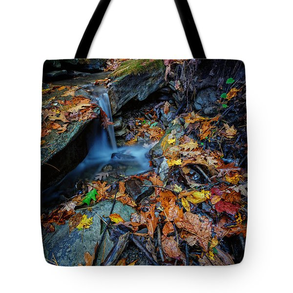 Autumn At A Mountain Stream Tote Bag by Rick Berk