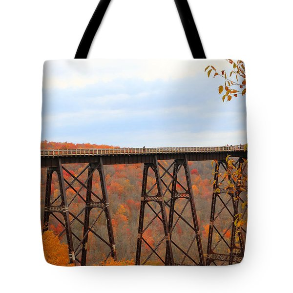 Autumn At Kinzua Bridge Tote Bag
