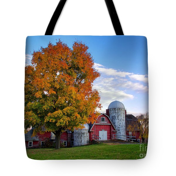 Tote Bag featuring the photograph Autumn At Lusscroft Farm by Mark Miller