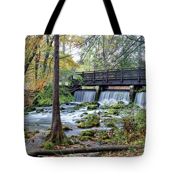 Tote Bag featuring the photograph Autumn At Maramec Spring by Cricket Hackmann