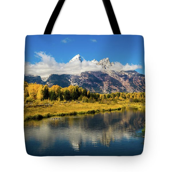 Autumn At Schwabacher's Landing Tote Bag