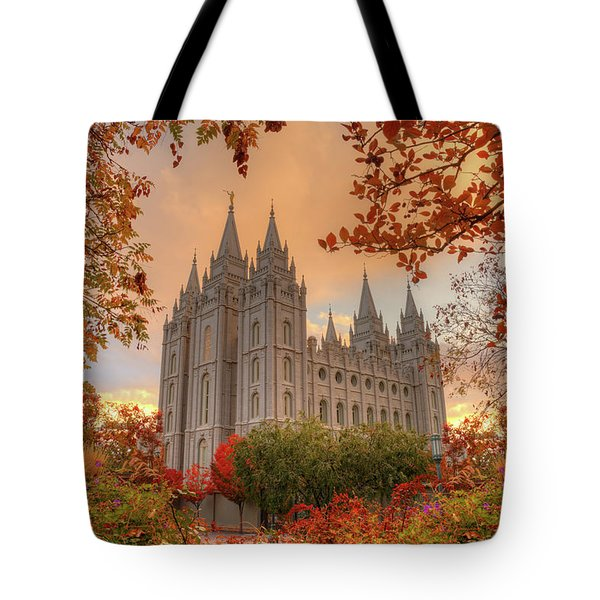 Autumn At Temple Square Tote Bag