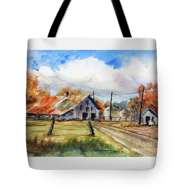 Autumn At The Farm Tote Bag by Ron Stephens