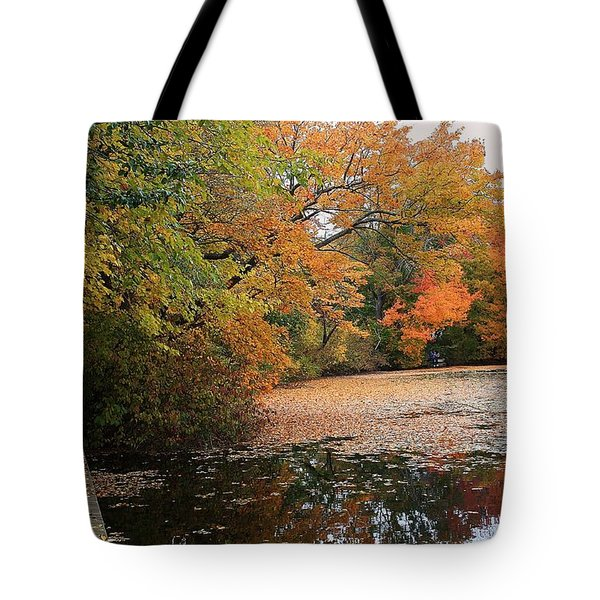 Autumn At The Lake Tote Bag by Mikki Cucuzzo
