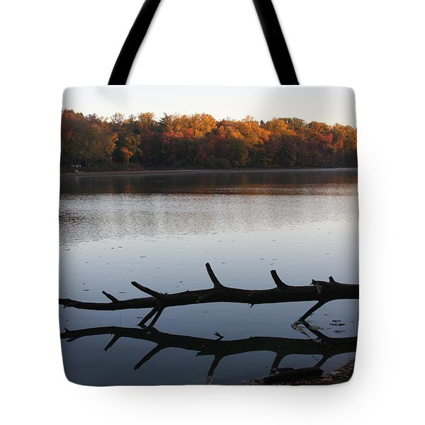 Tote Bag featuring the photograph Autumn At The Lake by Vadim Levin