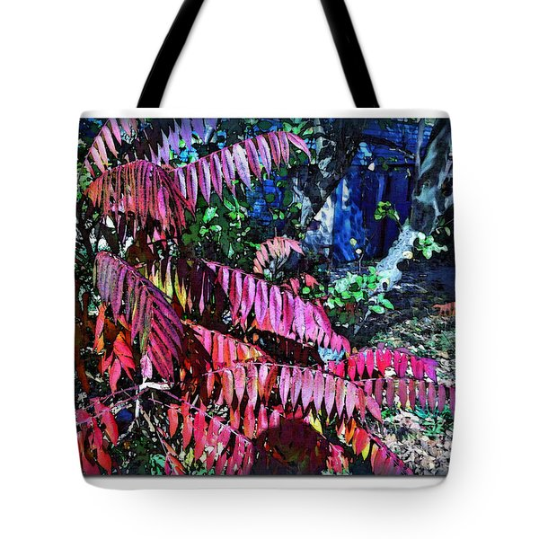 Tote Bag featuring the photograph Autumn At The Taverne by Joan  Minchak