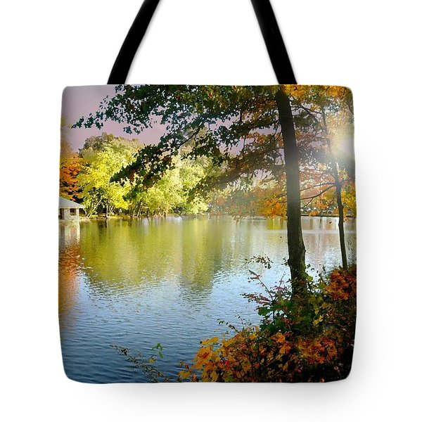 Autumn At Tilley Pond Tote Bag by Diana Angstadt