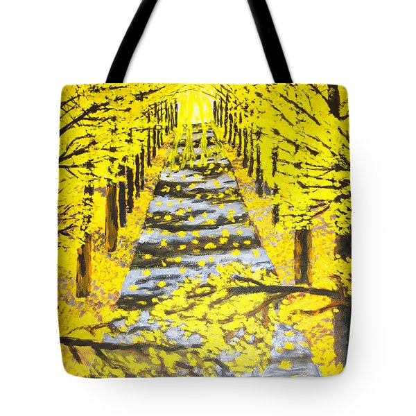 Autumn Avenue Tote Bag