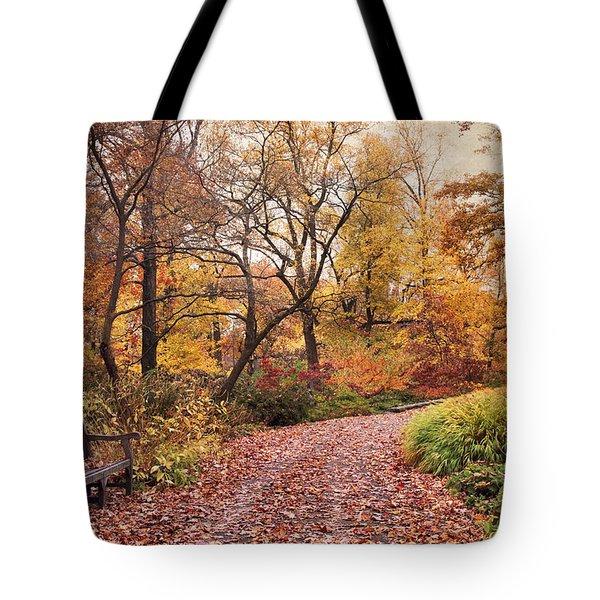 Autumn Azalea Garden Tote Bag