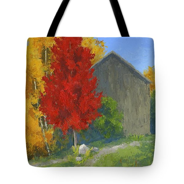 Autumn Barn Tote Bag