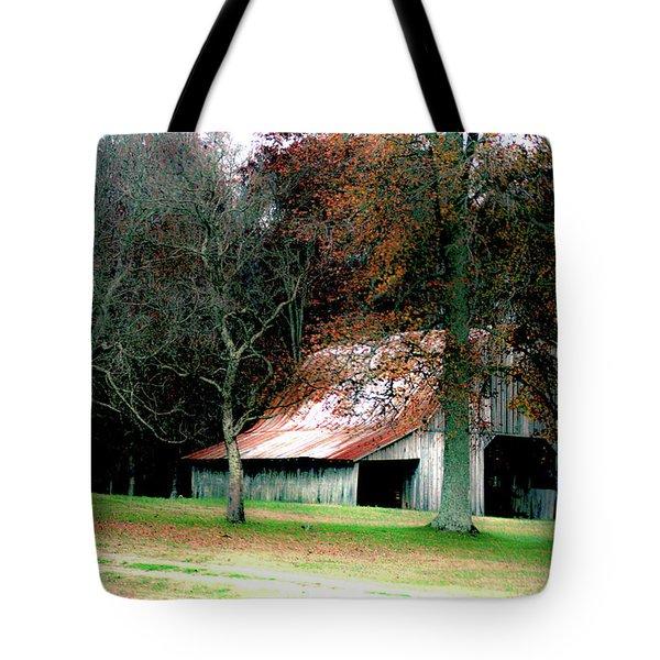 Autumn Barn In Alabama Tote Bag