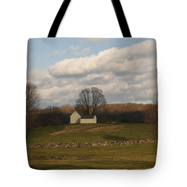 Autumn Barn On The Meadow Tote Bag