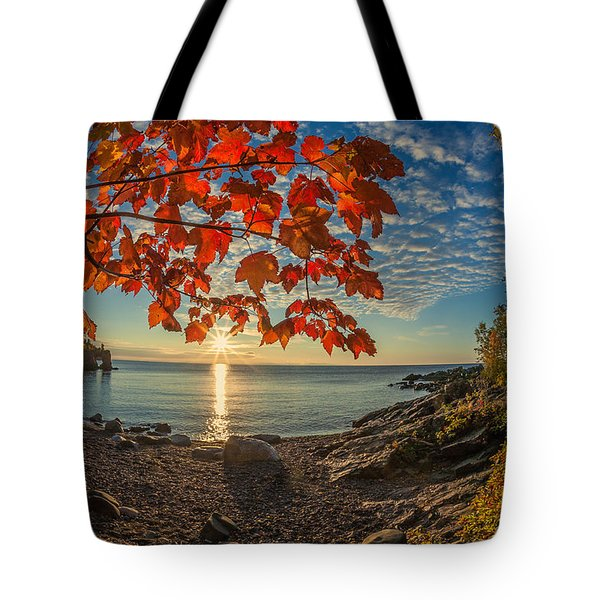 Autumn Bay Near Shovel Point Tote Bag