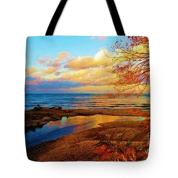 Autumn Beauty Lake Ontario Ny Tote Bag
