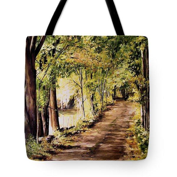 Autumn Begins In Underhill Tote Bag