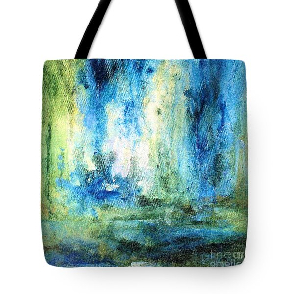 Spring Rain  Tote Bag by Laurie Rohner