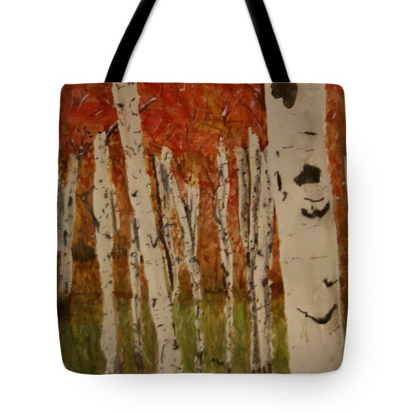 Autumn Birch Forest Tote Bag