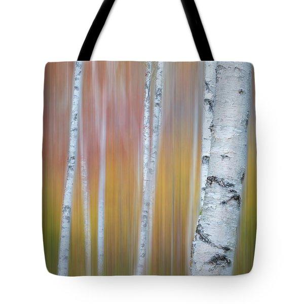 Autumn Birch Impressions Tote Bag
