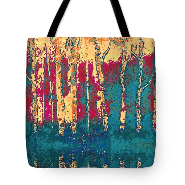 Autumn Birches Tote Bag