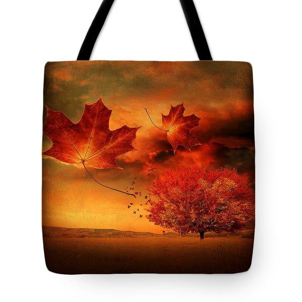 Autumn Blaze Tote Bag by Lourry Legarde