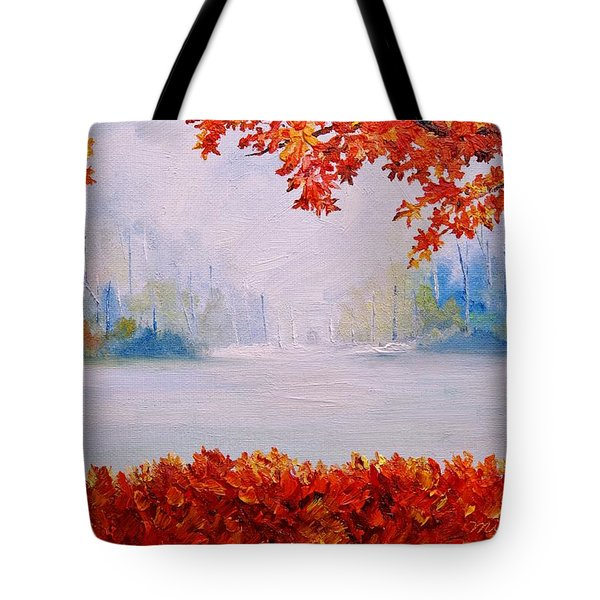 Autumn Blaze Maple Trees Tote Bag