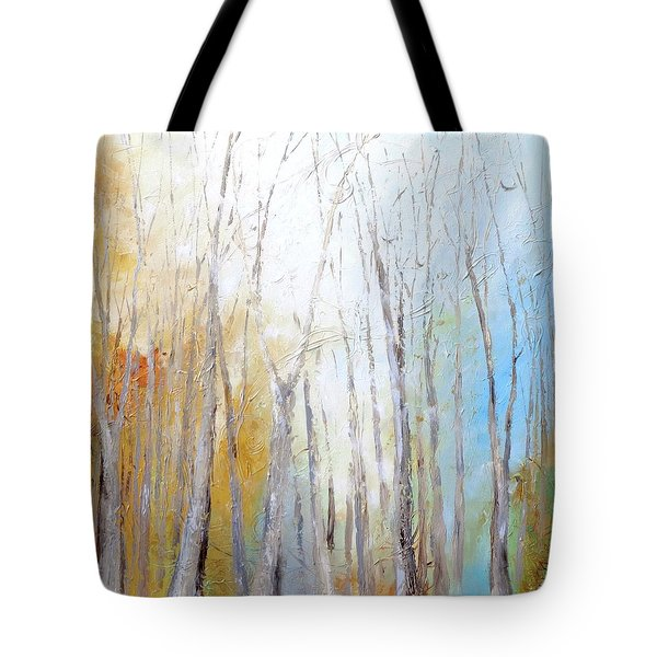 Tote Bag featuring the painting Autumn Bliss by Dina Dargo
