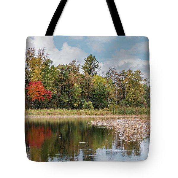Autumn Blue Heron Tote Bag