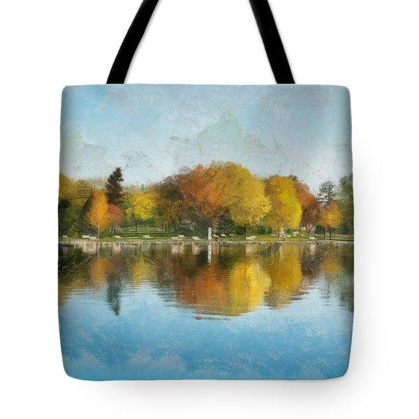Autumn Blues Tote Bag