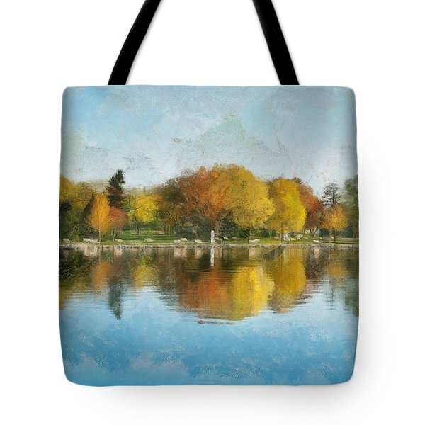 Autumn Blues Tote Bag