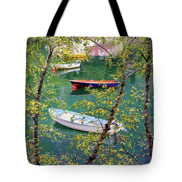 Autumn. Boats Tote Bag