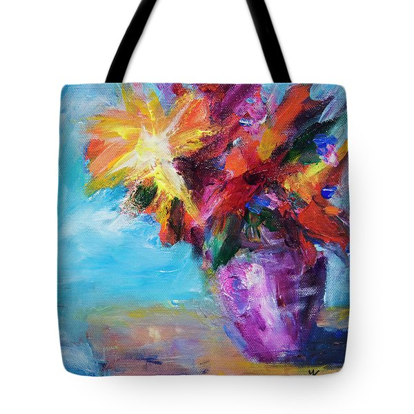 Colorful Flowers  Tote Bag by Yulia Kazansky