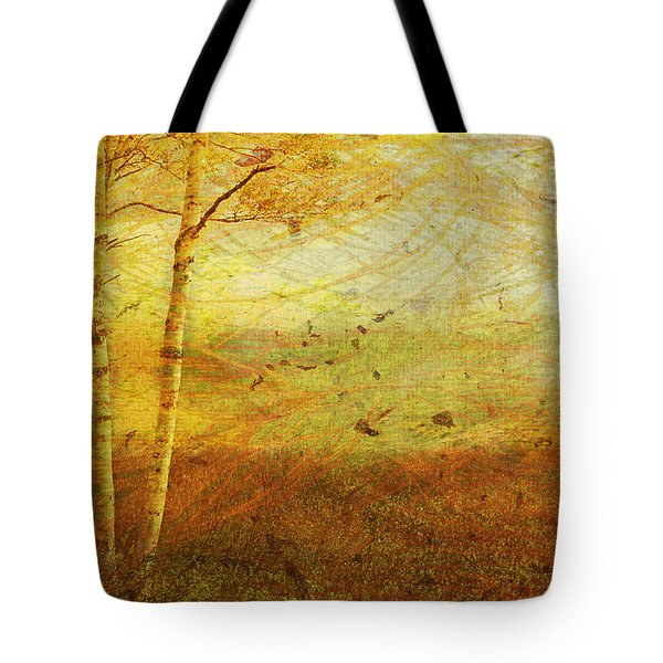 Tote Bag featuring the digital art Autumn Breeze by Ken Walker