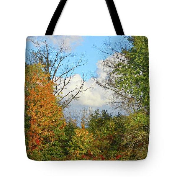 Autumn Breeze Nature Art Tote Bag
