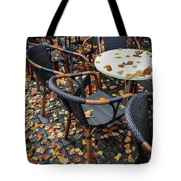Tote Bag featuring the photograph Autumn Cafe by Elena Elisseeva