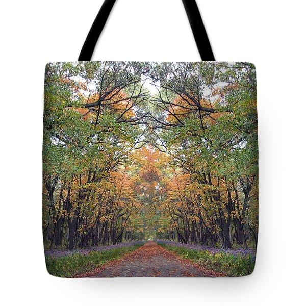 Autumn Canopy Tote Bag by Cedric Hampton