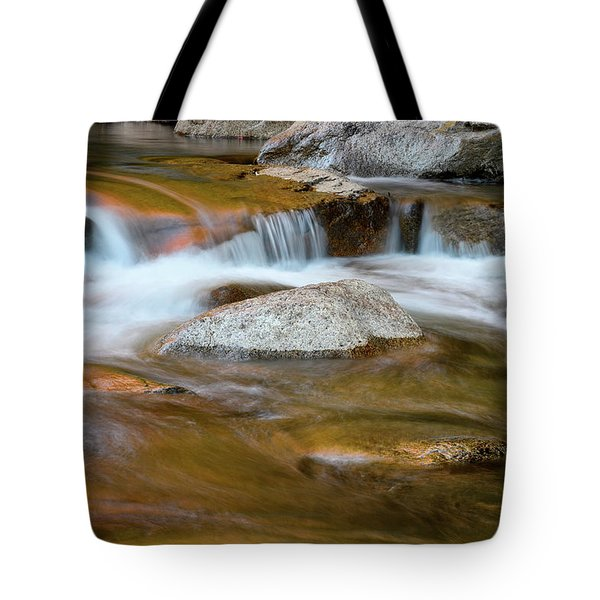 Tote Bag featuring the photograph Autumn Cascade Nh by Michael Hubley