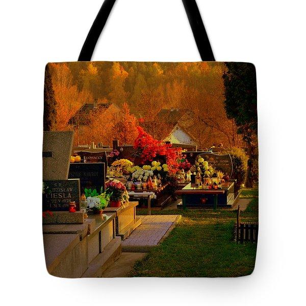 Autumn Cemetery Tote Bag
