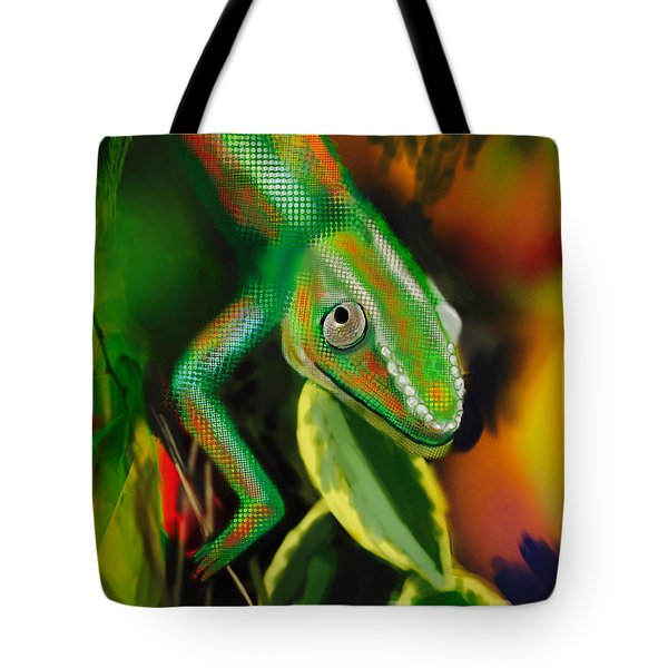Autumn Chameleon Tote Bag by Diana Riukas