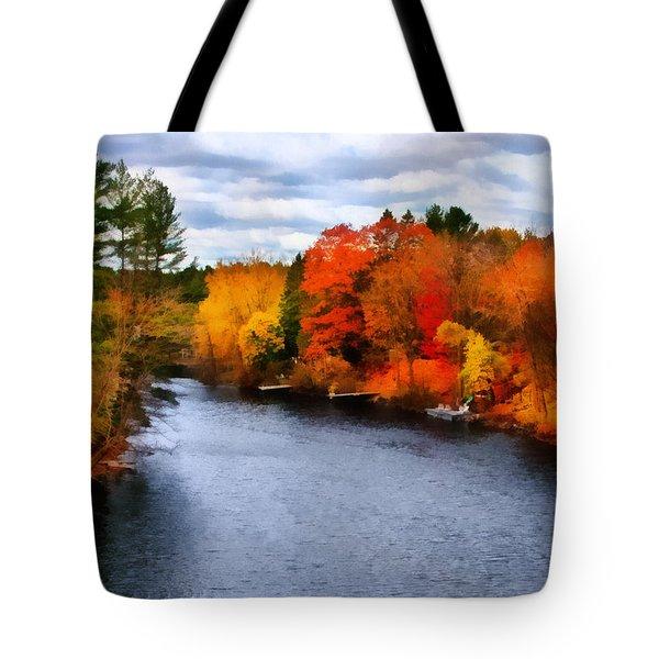 Autumn Channel Tote Bag