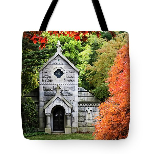 Autumn Chapel Tote Bag