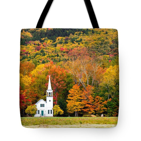 Tote Bag featuring the photograph Autumn Chapel by Robert Clifford
