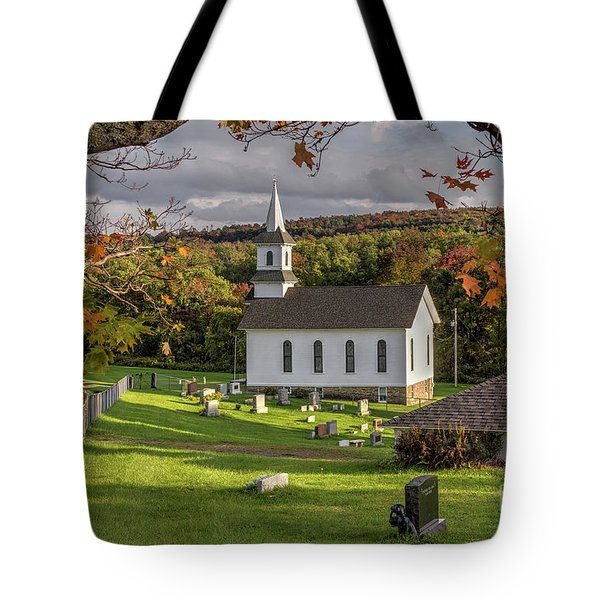 Autumn Church Tote Bag