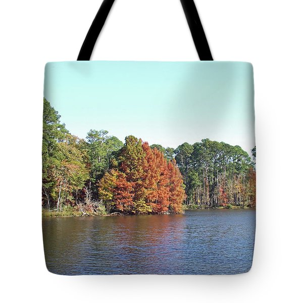 Tote Bag featuring the photograph Autumn Color At Ratcliff Lake by Jayne Wilson
