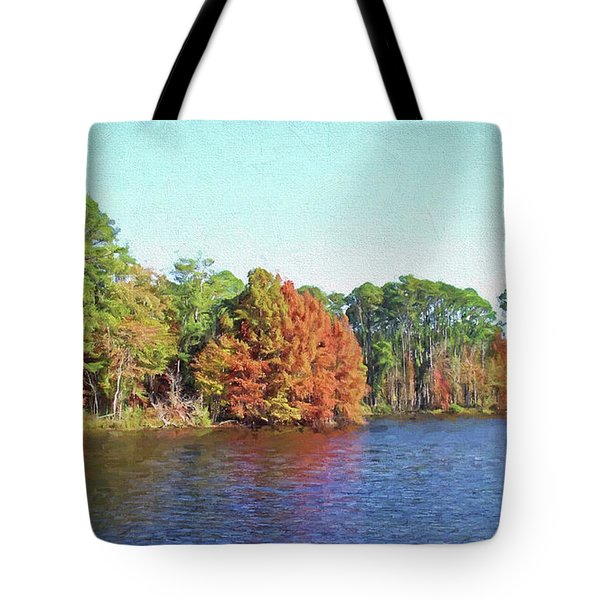 Autumn Color At Ratcliffe Lake Tote Bag